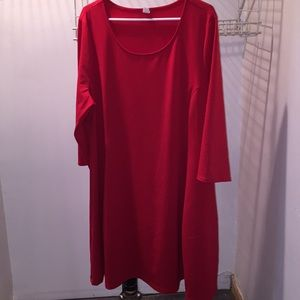 "Old Navy red dress size XXL 39"" long GUC"